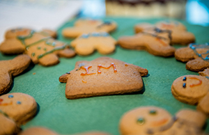 Photograph of birthday biscuits made by a colleague in celebration of the ten-year anniversary of NHS Informatics Merseyside